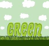 Verde con copyspace ambiente limpio — Vector de stock