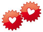 Icono del corazón de la tarjeta de san valentín. concepto sentimientos de amor — Vector de stock