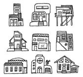 House icon set. Architecture — Stock Vector