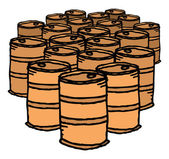 Oil drum. Bunch of barrels — Vetorial Stock