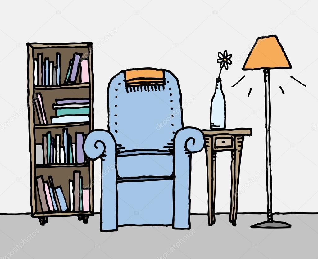 #AF6C1C Colorida sala de estar. decoração home diária — Ilustração de  1024x834 píxeis em Decoraçao De Sala De Estar Colorida