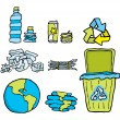 Stock Vector: Environmental conservation. Recycling set