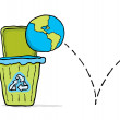 Royalty-Free Stock Vector Image: Recycling earth. Trashing the world