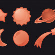 Space Icon set — Stock Vector #23886841