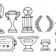 Trophies and prizes - Stock Vector