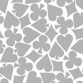 Seamless Poker Pattern Background — Stock Vector