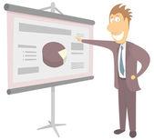Business presentation in progress — Stock Vector