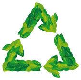 Laisse nature symbole de recyclage — Vecteur