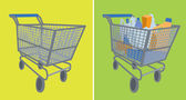 Empty. Full Shopping Cart. — Vector de stock