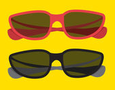 Summer colorful sunglasses — Stock Vector