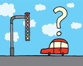 Odd traffic lights — Stock Vector