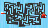 Лабиринт мультфильм — Cтоковый вектор