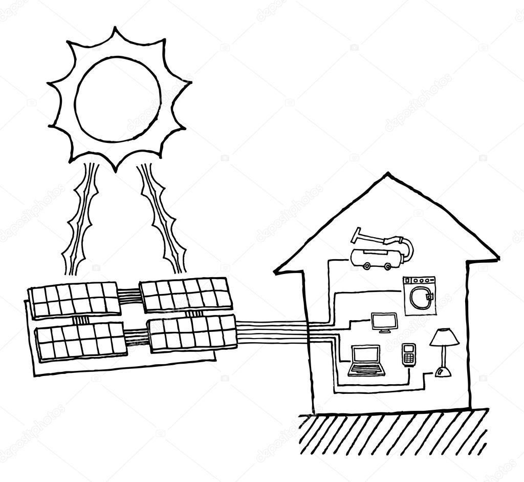 gr u00e1fico de energia solar  diagrama de funcionamento de