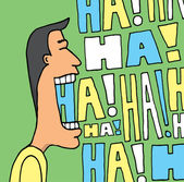 Guy laughing out loud — Stock Vector