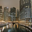 Chicago night view — Foto de Stock