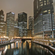 Chicago nacht weergave — Stockfoto