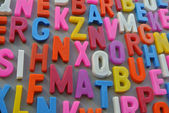 Colorful letter texture — Stock Photo