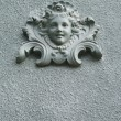 Baroque angel ornament on a wall — Stock Photo