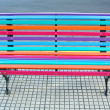 colorful design bench on the street — Stock Photo