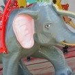 Funny cute carousel indian elephant — Stock Photo