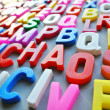 Colorful letter texture chaos word — Stock Photo #29406067