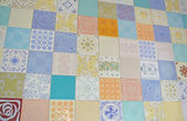 Assorted tile texture as patchwork — Foto Stock