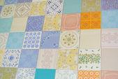 Texture tile assortiti come patchwork — Foto Stock