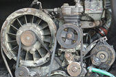 Worn engine or motor — Stock Photo