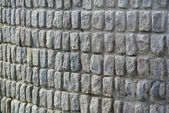 Paving stone wall background — Stock Photo