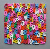 Forma de textura colorida carta arreglado — Foto de Stock