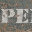 Vintage stencil open sign — Stockfoto
