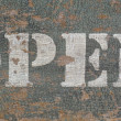 Stock Photo: Vintage stencil open sign