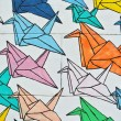 Colorful cranes texture — Stock Photo