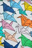 Colorful cranes texture — Stock Photo