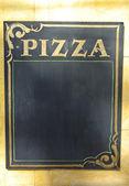 Pizza board sign — Stock Photo