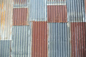 Corrugated iron background — Stock Photo