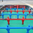 Stock Photo: Foosball table teams