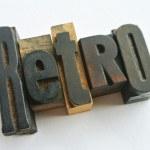 Retro wood word — Stock Photo