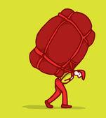 Carregando um fardo pesado — Vetor de Stock