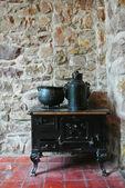 Antique kitchen oven — Stock Photo
