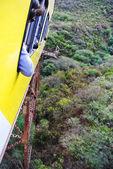 Vertigo or train cruising over a forest — Stock Photo