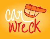 Cartoon car wreck — Stock Vector