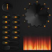 Vector user interface: media player — Stock Vector