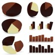 Stock Vector: Set of chocolate diagrams