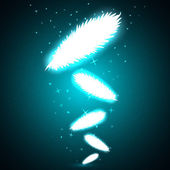 Shining feathers with sparkles — Stock Photo