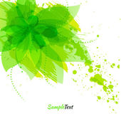Abstract flower with green blots — Stock Photo