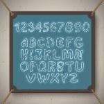 School alphabet and numbers — Stock Photo