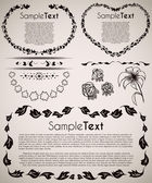 Hand drawn vintage frames and elements — Stock Photo