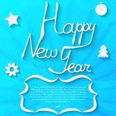 Testo di felice anno nuovo — Vettoriale Stock