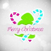 Merry Christmas greeting card — Vecteur
